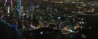 Вертолетный тур над ночным Нью Йорком