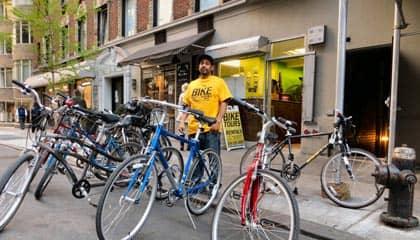 Проезд на велосипеде через Центральный Парк