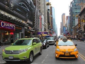 Проезд на такси в Нью-Йорке