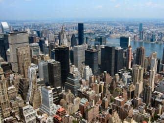 Эмпайр-Стейт-билдинг в Нью-Йорке вид
