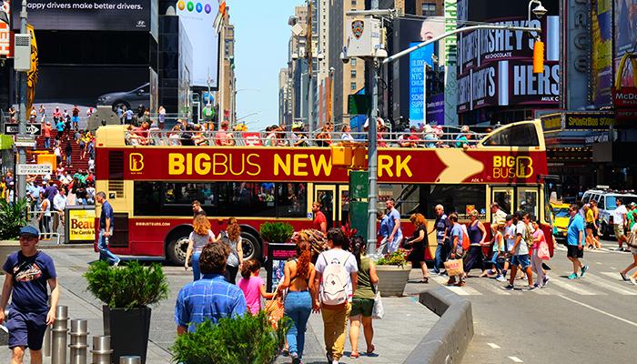 Big Bus в Нью-Йорке - Таймс-сквер