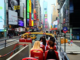 Big Bus в Нью-Йорке - Открытый верхний этаж