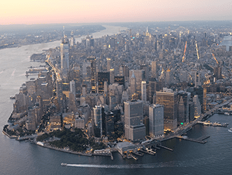 Вечерняя экскурсия на вертолете над Нью-Йорком и обзорный круиз на пароме - Манхеттен