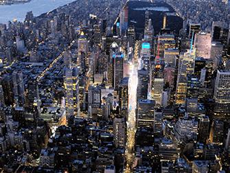 Вечерняя экскурсия на вертолете над Нью-Йорком и обзорный круиз на пароме - Таймс-сквер