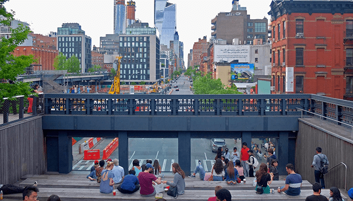 Хай-Лайн в Нью-Йорке - Лестница
