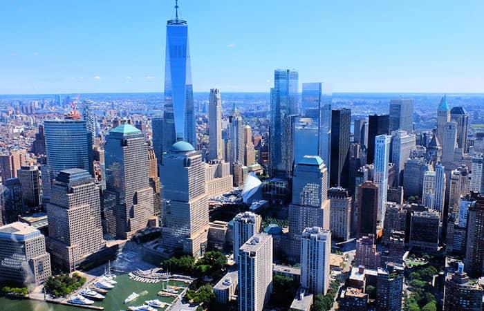 Нижняя часть Манхэттена и Финансовый квартал в Нью-Йорке