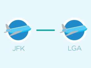 Из JFK в LaGuardia или из LaGuardia в JFK