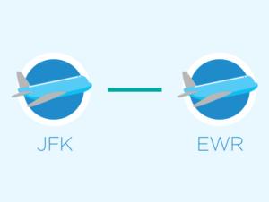 Из JFK в Newark или Newark в JFK
