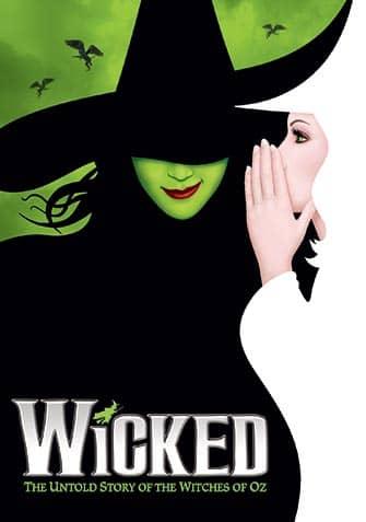 Wicked мюзикл на Бродвее в Нью-Йорке