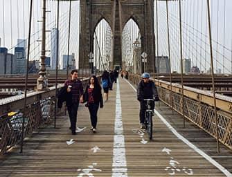 По Нью-Йорку на велосипеде - Бруклинский мост на велосипеде