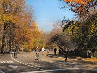 BПо Нью-Йорку на велосипеде - Центральный парк осень