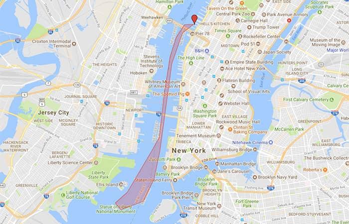 Circle Line круиз к Статуи Свободы - Карта