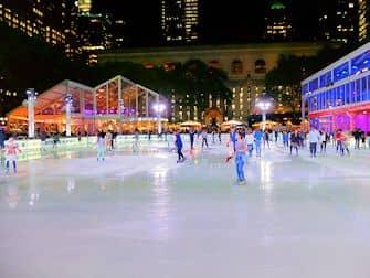 Ледовые катки в Нью-Йорке - Bryant Park Каток