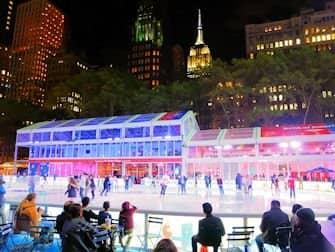 Ледовые катки в Нью-Йорке - Bryant Park Каток2