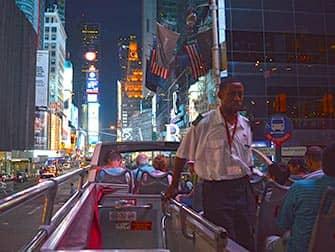На втором этаже Big Bus в Нью-Йорке