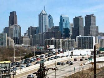 Панорамный вид на Филадельфию