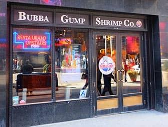 Разнообразие ресторанов Нью-Йорка Bubba-Gump