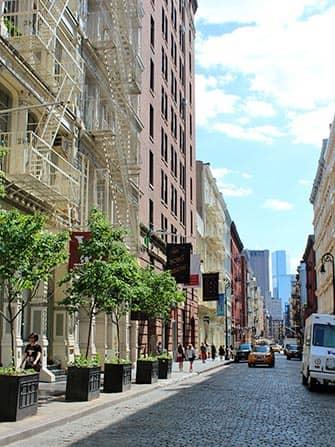 Сохо в Нью-Йорке здания