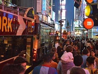 Big Bus в Нью-Йорке ночью