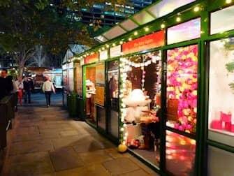 Рынки в Нью-Йорке - Рождественский рынок в парке Bryant Park