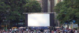Бесплатные кинопоказы в Брайант парке