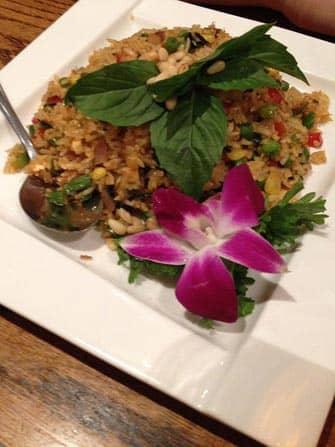 Вегетарианские рестораны в Нью-Йорке рис с ананасом