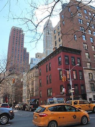 Верхний Ист-Сайд в Нью-Йорке здания
