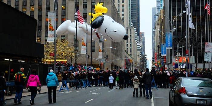 День благодарения в Нью-Йорке Парад