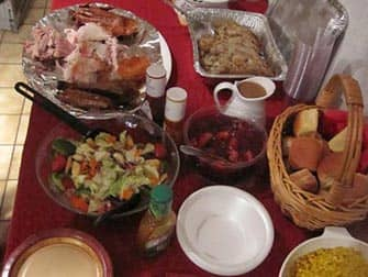 День благодарения в Нью-Йорке ужин