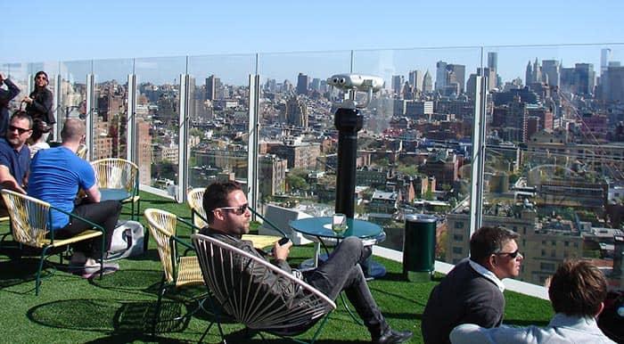 Лучшие бары на крышах в Нью-Йорке Standard