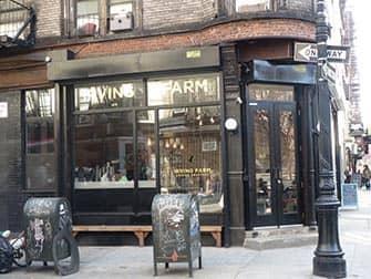 Лучшие кофейни и бейгл бары Нью-Йорка Irving Farm