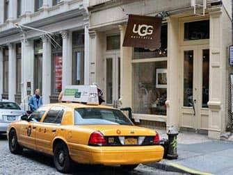 Магазины Ugg's в Нью-Йорке такси