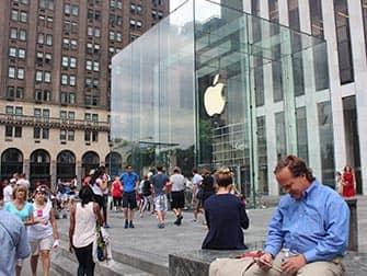 Магазин Apple в Нью-Йорке Главный магазин