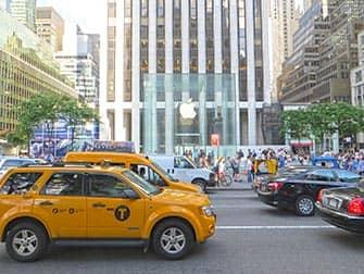 Магазин Apple в Нью-Йорке Пятое авеню