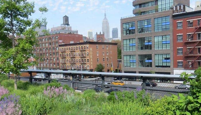 Митпакинг Дистрикт в Нью-Йорке High-Line-Park