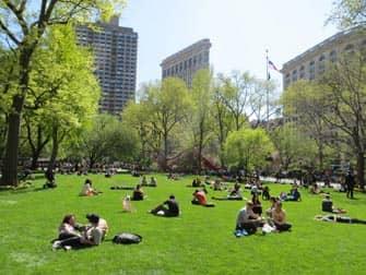 Парки в Нью-Йорке madison-square-park