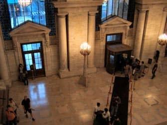 Публичная библиотека в Нью-Йорке внутри