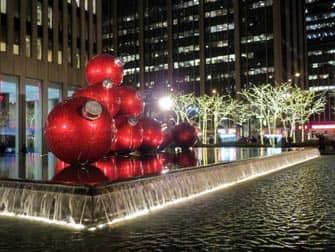 Рождество в Нью-Йорке декорации