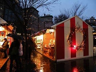 Рынки в Нью-Йорке рождественская атмосфера