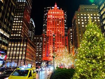 Рождественские каникулы в Нью-Йорке - рождественских декораций