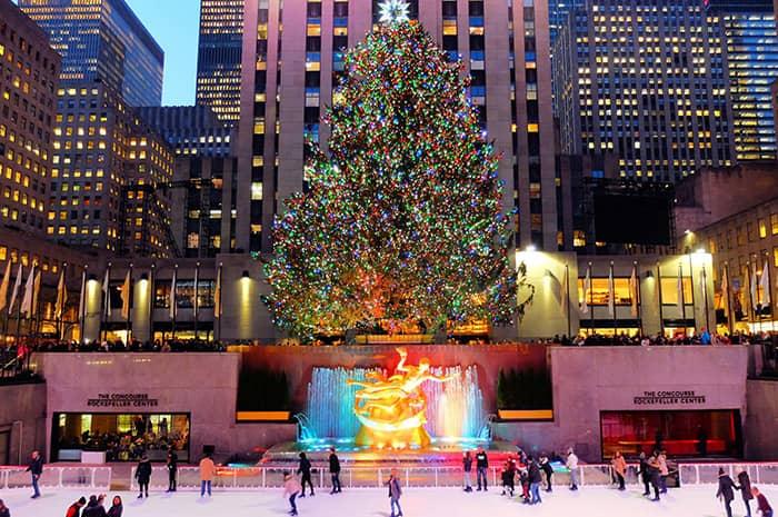 Рождественские каникулы в Нью-Йорке - Рокфеллер Рождественская елка