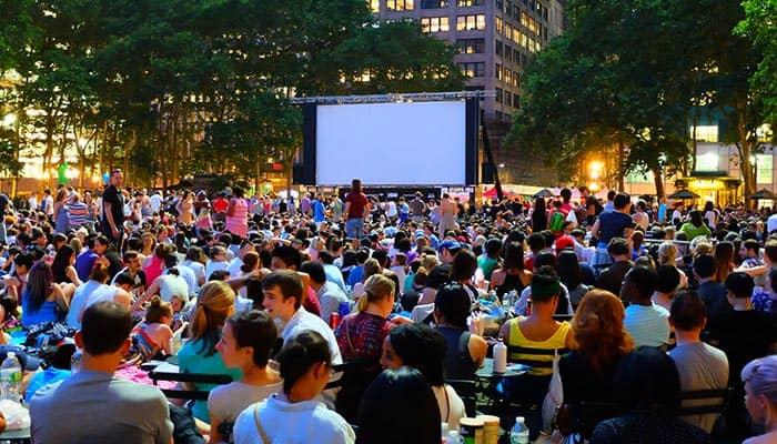 Бесплатные кинопоказы в Нью-Йорке