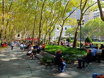 Парки в Нью-Йорке bryant-park