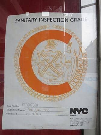 Гигиена в ресторанах Нью-Йорка инспекция