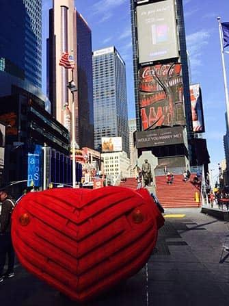 День Святого Валентина в Нью-Йорке Times-Square