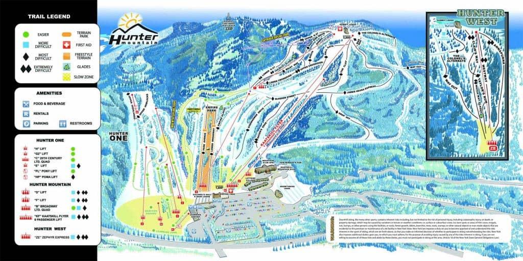 Однодневные лыжные туры с Нью Йорка карта