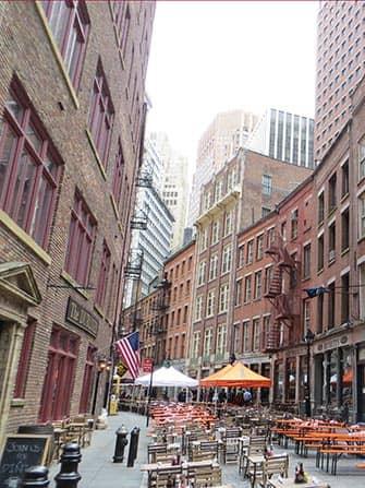 Рестораны Бары на Stone Street в Нью-Йорке