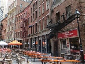 Рестораны на Stone Street в Нью Йорке