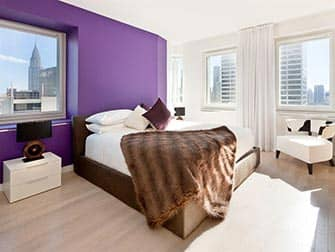 Апартаменты в Нью-Йорке Times-Square-Towers спальня