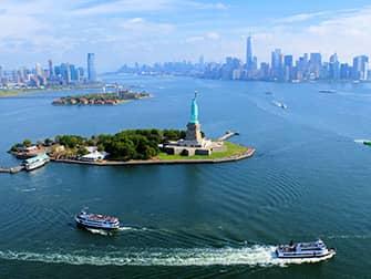 Экскурсия над Нью-Йорком на вертолете без дверей - Статуя Свободы